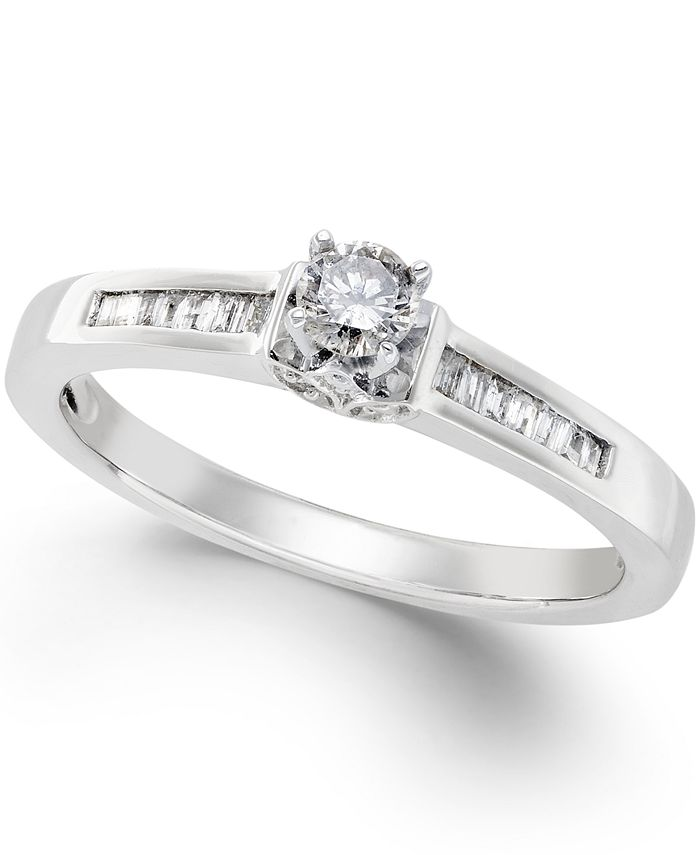 Promised Love - Diamond Promise Ring in Sterling Silver (1/4 ct. t.w.)
