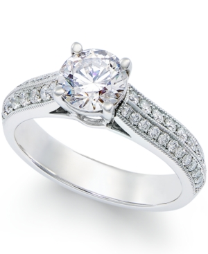 Diamond Certified Engagement Ring in Platinum (1-3/8 ct. t.w.)