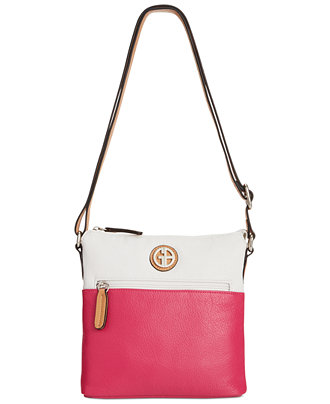 Giani Bernini Pebble Leather Vertical Crossbody