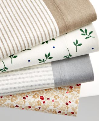 CLOSEOUT! Martha Stewart Collection Coordinating Flannel King Sheet Set, Only at Macy's