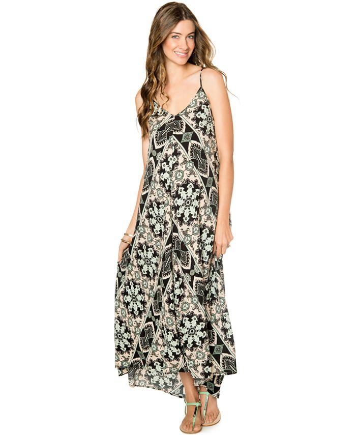 Wendy Bellissimo - Maternity Printed Cutout-Back Maxi Dress
