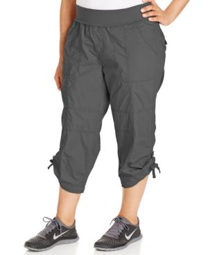 Calvin Klein Performance Plus Size Cropped Active Pants