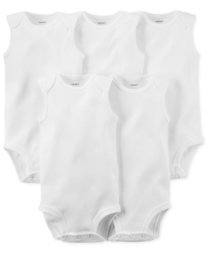 Carter's - Baby 5-Pack Sleeveless Solid Bodysuits