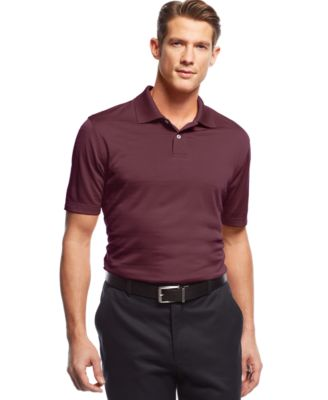 Image of John Ashford Short Sleeve Solid Textured Performance Polo