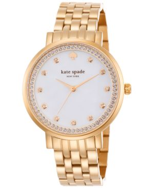 kate spade new york Women's Monterey Rose Gold-Tone Stainless Steel Bracelet Watch...