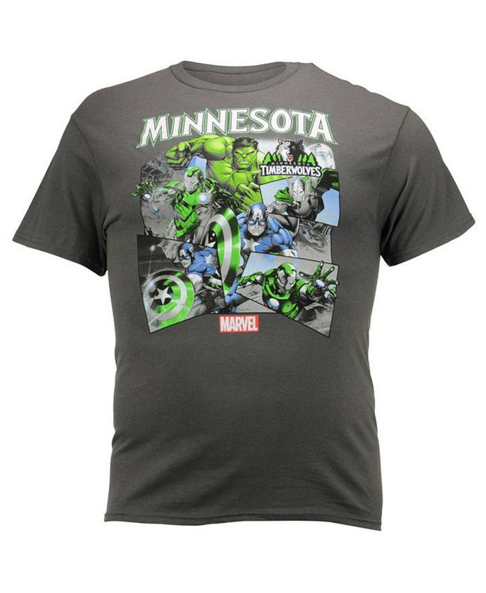 Fifth Sun - Men's Minnesota Timberwolves Comic Shatter T-Shirt