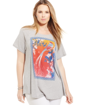Lucky Brand Plus Size Bird Graphic Tee