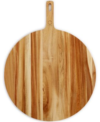 Martha Stewart Collection Round Acacia Paddle Cutting Board, Only at MAcy's