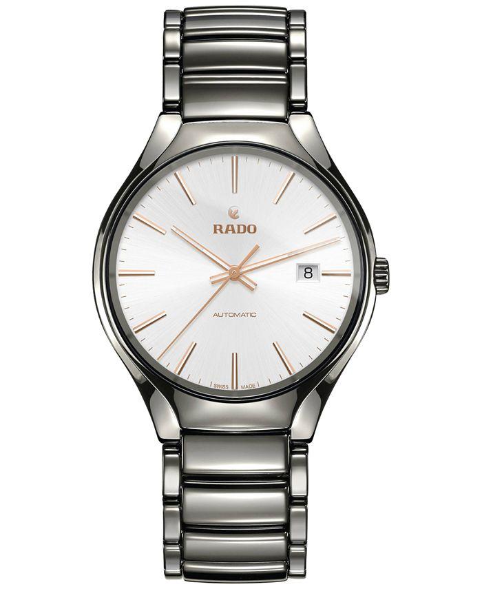 Rado - Men's Swiss Automatic True Plasma High-Tech Ceramic Bracelet Watch 40mm R27057112