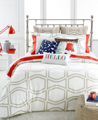 kate spade new york Bow Tile Beige Full/Queen Comforter Set