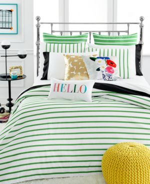 kate spade new york Harbour Stripe Picnic Green Twin/Twin Xl Comforter Set...