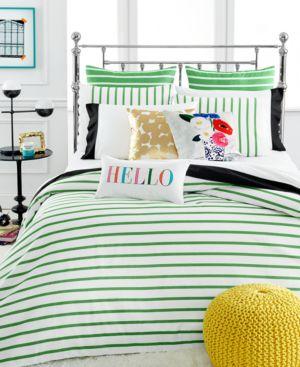 kate spade new york Harbour Stripe Picnic Green Twin/Twin Xl Comforter Set...