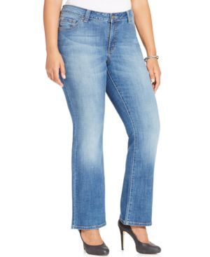 Lee Platinum Plus Size Slender Fit Straight Leg Jeans