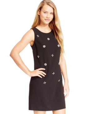 City Studios Juniors' Bejeweled Shift Dress