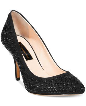 Inc International Concepts Zitah Pointed Toe Rhinestone Evening Pumps Women's Shoes thumbnail