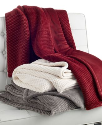 Hotel Collection Red Quill Throw, Only at Macy's