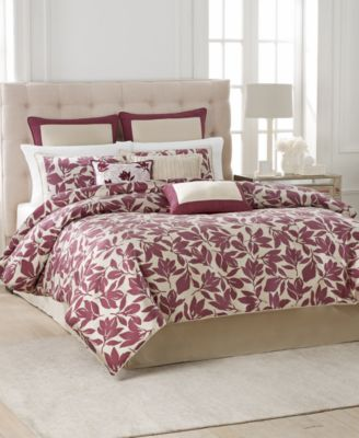 CLOSEOUT! Martha Stewart Collection Berkshire Leaves 9-Pc. Queen Comforter Set
