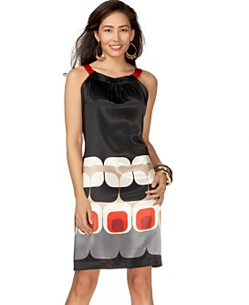 Macy*s - Women's - Eliza J Printed Silk Dress from macys.com