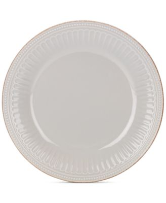 Lenox Dinnerware Stoneware French Perle Groove Dove Grey Dinner Plate, Only at Macy's