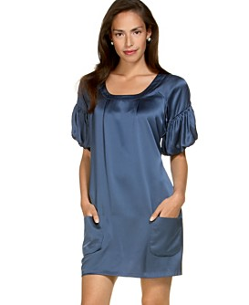Macy*s -   Women's - 								Kenneth Cole Reaction Silk Puff-Sleeve Pocket Dress from macys.com