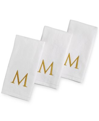CLOSEOUT! Avanti Bath Towels, 3-Piece Monogram Fingertip Set, Only at Macy's