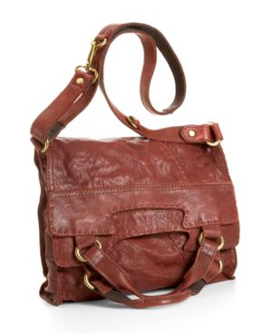 Lucky Brand Jeans Handbag, Leather Foldover Bag - Handbags