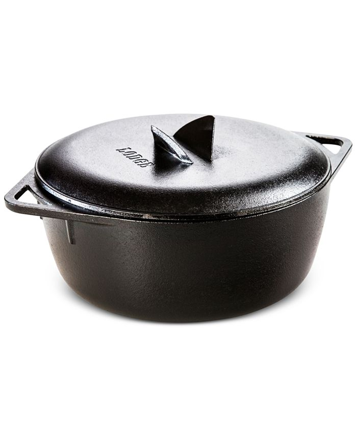 Lodge - 6-Qt. Cast Iron Dutch Oven with Cover, a Macy's Exclusive
