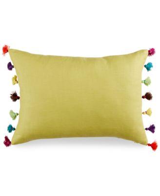 "bluebellgray Abstract 14"" x 20"" Tassel Decorative Pillow"