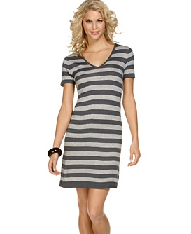 Macy*s - Women's - BCBG Striped Sweater Dress