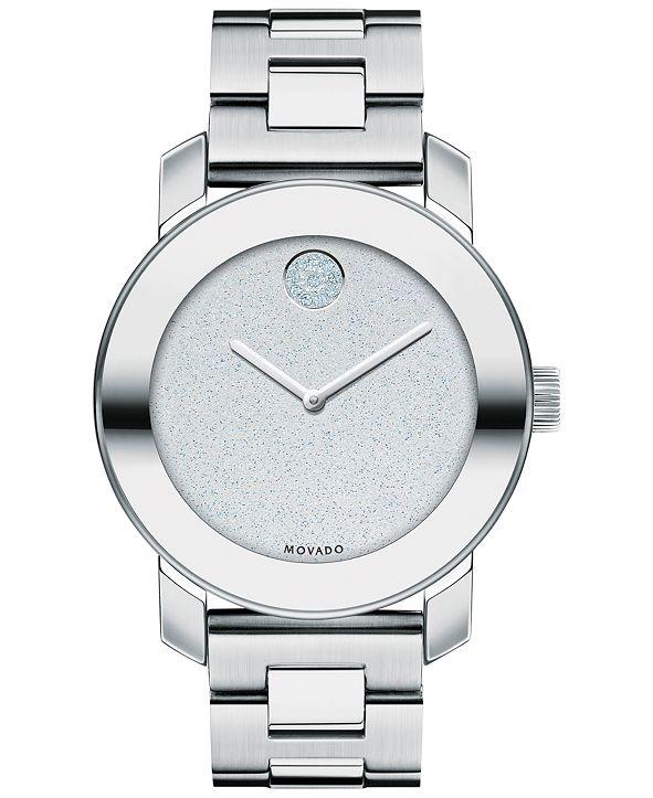 Movado Women's Swiss Bold Stainless Steel Bracelet Watch 36mm 3600334