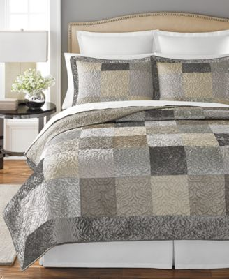 Martha Stewart Collection Wakefield King Quilt, Only at Macy's