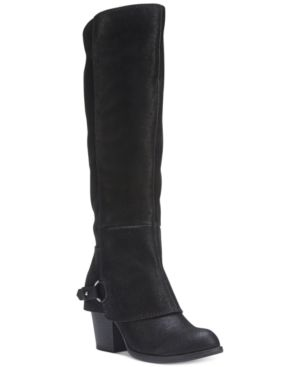 Fergalicious Lexy Wide Calf Cuffed Boots Women's Shoes