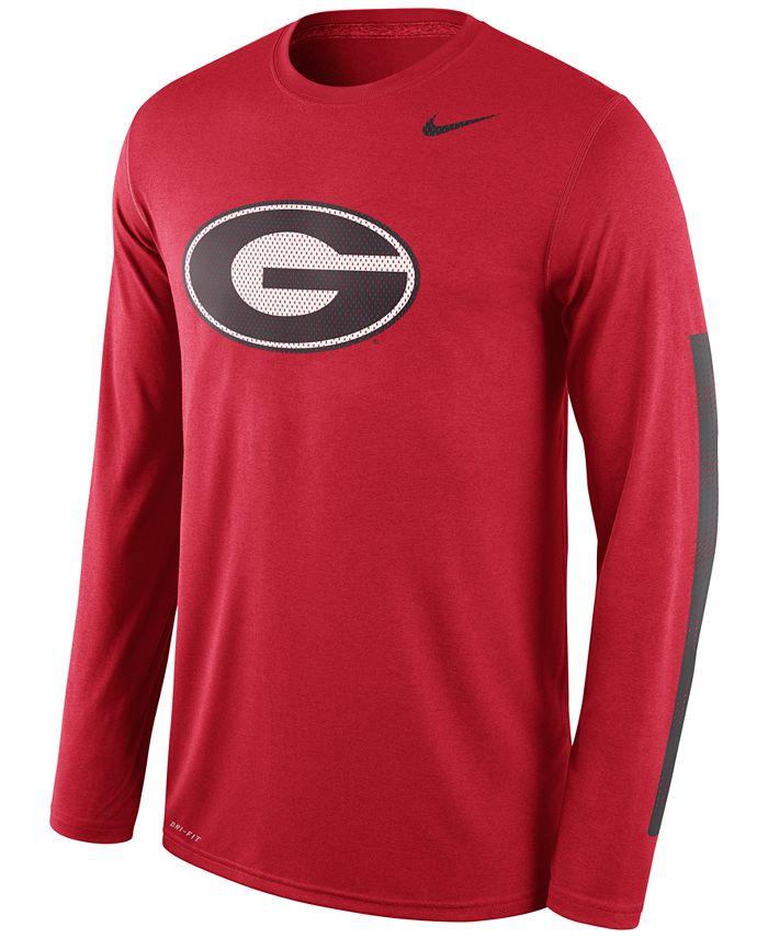 Nike - Men's Long-Sleeve Georgia Bulldogs Legend DNA T-Shirt