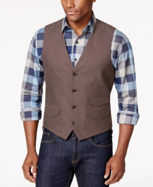 Tasso Elba Brushed Cotton Vest Only at Macys $34.99 AT vintagedancer.com