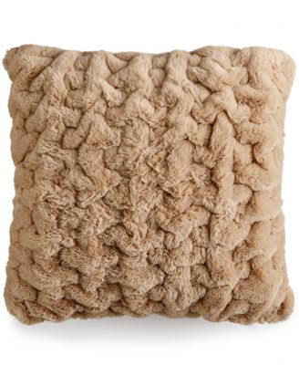 CLOSEOUT! Martha Stewart Collection Quilted Faux Fur Decorative Pillows, Only at Macy's