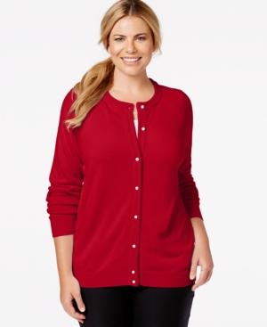 Karen Scott Plus Size Button-Down Cardigan Only at Macys $14.99 AT vintagedancer.com