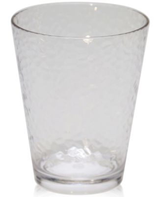Certified International Acrylic Clear Double Old-Fashioned Glass