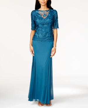 Alex Evenings Lace Mock Two-Piece Gown $219.00 AT vintagedancer.com