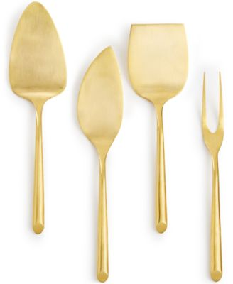 Hotel Collection 18/0 Stainless Steel 4-Pc. Gold-Tone Cheese Serving Set, Only at Macy's