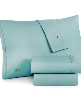 Lacoste Solid Cotton Percale California King Sheet Set