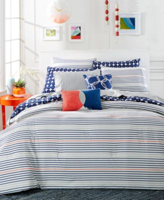 CLOSEOUT! Whim by Martha Stewart Collection Between The Lines 5-Pc. Full/Queen Comforter Set