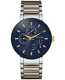 Bulova Men's Futuro Two-Tone Stainless Steel Bracelet Watch 40mm