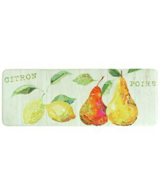 """Bacova Kitchen, Citron Et Poire 20"""" x 55"""" Rug"""