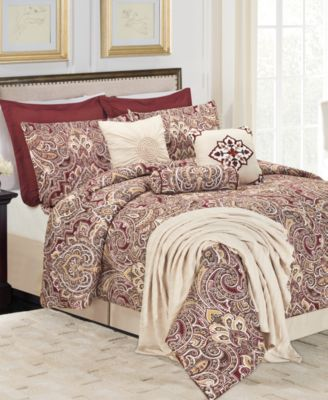 CLOSEOUT! Amber Palace 10-Piece Queen Comforter Set