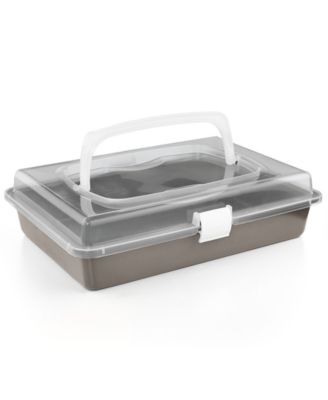 "Martha Stewart Collection Nonstick 9"" x 13"" Cake Pan With Carrier, Only at Macy's"