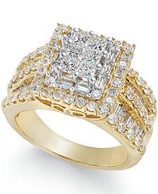 Diamond Cluster Ring (2 ct. t.w.) in 14k Gold
