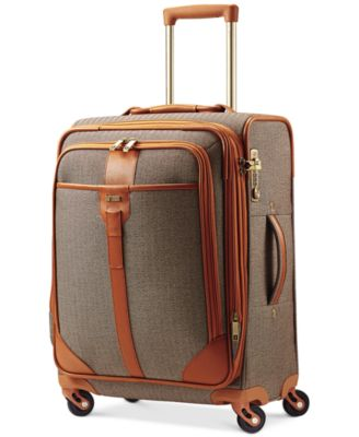 "Hartmann Herringbone Luxe 21"" Expandable Carry On Spinner Suitcase"
