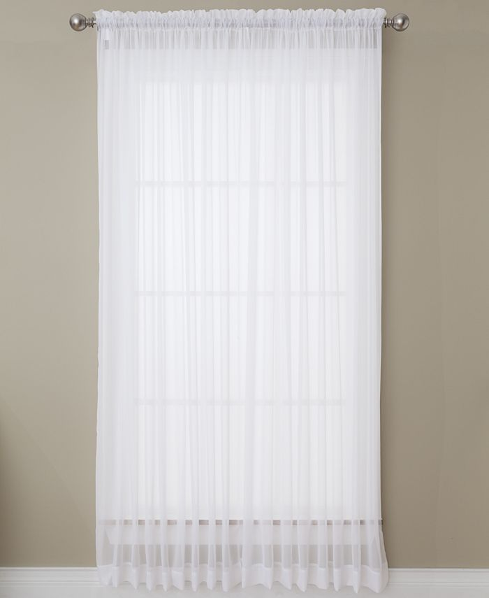 "Miller Curtains - Solunar Voile 54""x 95"" Insulating Sheer Curtain Panel"