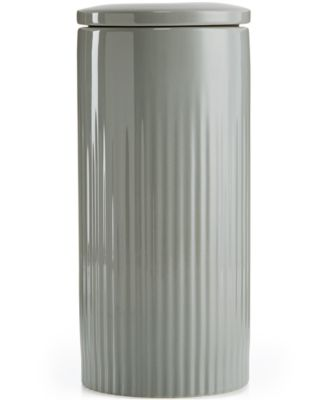 Hotel Collection Modern Stone Porcelain 2-Pc. Large Canister, Only at Macy's