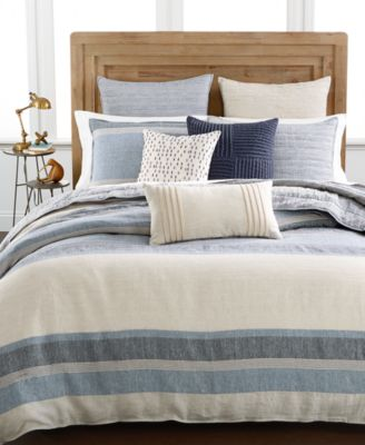 Hotel Collection Linen Stripe Full/Queen Duvet Cover, Only at Macy's